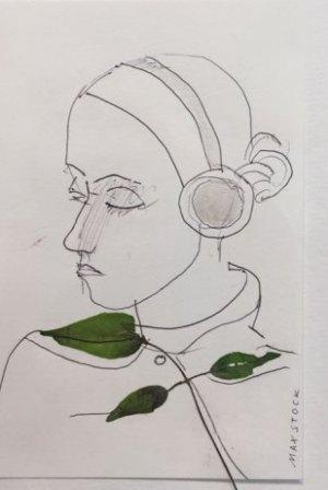 Zeichnung Blatt-Kragen