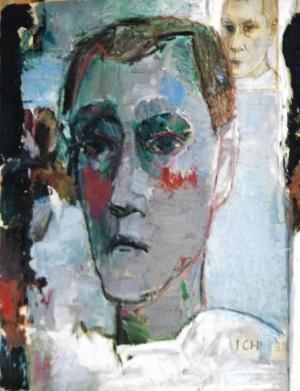 Selbst, Öl auf Leinwand, 65x60, 1988
