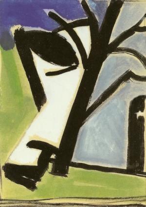 ohne Titel, Tempera auf Karton, 1990, 19,5x15 cm