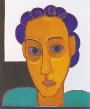 ohne Titel, Öl auf Leinwand, 1997, 60x50cm
