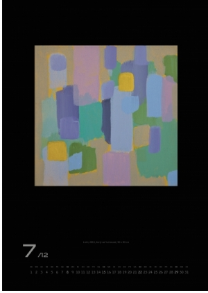 Juli 2012 | Licht, 2011, Acryl auf Leinwand, 40x40 cm