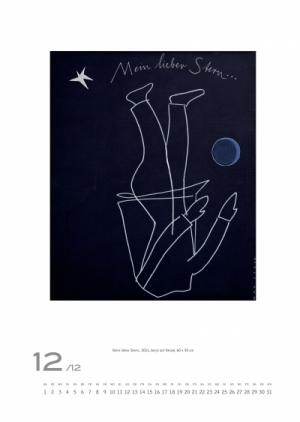 Dezember 2012 | Mein lieber Stern., 2011, Acryl auf Nessel, 60x50 cm