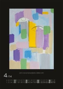 April 2014 | Licht 2, Acryl auf Leinwandkarton, 40x30 cm, 2012