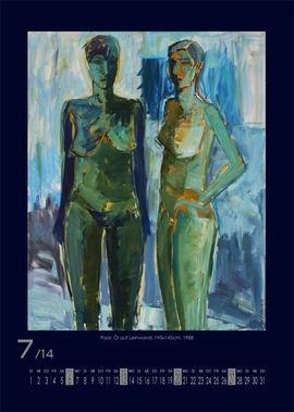 Juli 2014 | Paar, Öl auf Leinwand, 190x145 cm, 1988