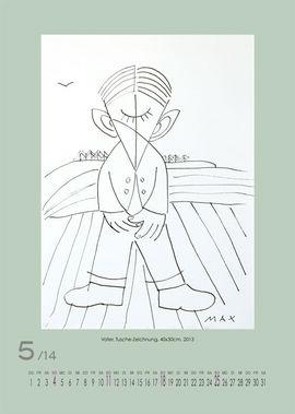 Mai 2014 | Vater, Tusche-Zeichnung, 40x30 cm, 2013
