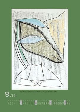 Sepetember 2014 | Schäferstündchen, Pastell/Kohle auf Papier, 65x60 cm, 2013