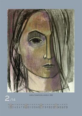 Februar 2014 | Malina, Pastell-Kohle, 65x50 cm, 2000