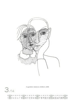 März 2014 | Augenblick, Siebdruck, 40x30 cm, 2008