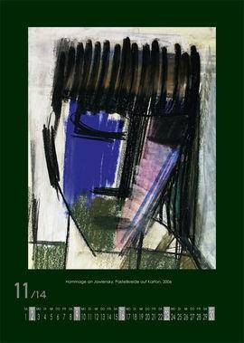 November 2014 | Hommage an Jawlensky, Pastellkreide auf Karton, 2006