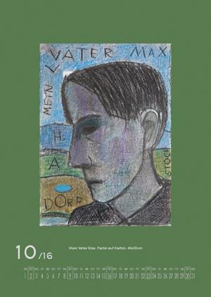 Oktober 2016 |  Mein Vater Max. Pastel auf Karton, 40x30 cm