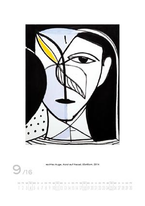 September 2016 | rechtes Auge. Acryl auf Nessel, 50x40 cm, 2014