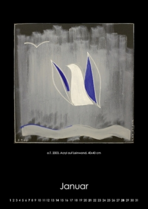 Januar 2018 | o.T.. 2003, Acryl auf Leinwand, 40x40 cm