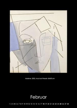 Februar 2018 | Marlene. 2002, Acryl auf Nessel, 60x50 cm