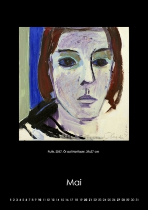 Mai 2018 | Ruth. 2017, Öl auf Hartfaser, 39x37 cm