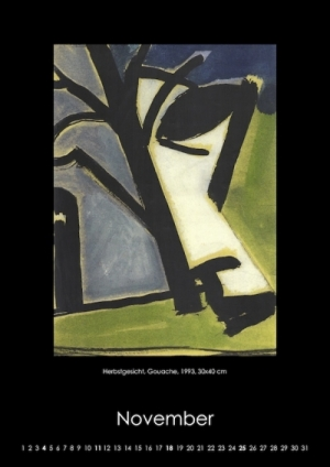 November 2018 | Herbstgesicht, Gouache, 1993, 30x40 cm