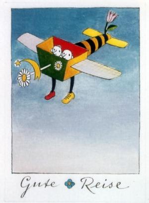 "Postkarte ""Gute Reise"""