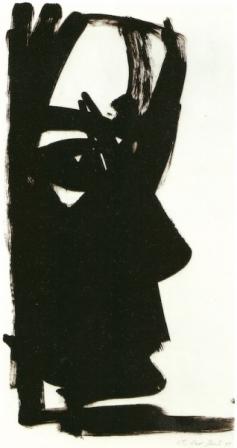 ohne Titel, Tusche auf Papier, 61x33cm, 1995
