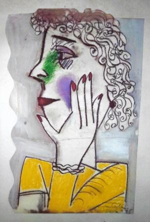 ohne Titel, , 70x50, ca. 1975, Pastallzeichnung auf Karton