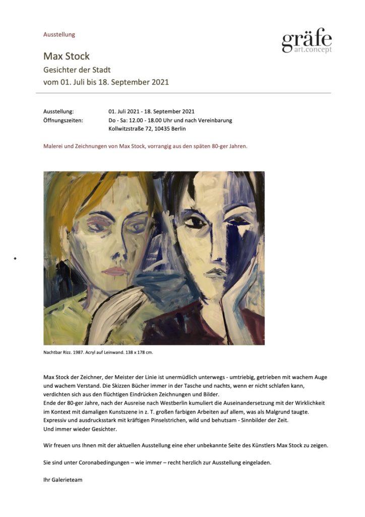 Einladungsflyer Galerie Gräfe art.concept